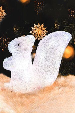 Светящаяся фигурка БЕЛКА, акрил, 24 холодных белых LED-огней, 32 см, KAEMINGK 492058Светящиеся фигуры из акрила<br>Очаровательная БЕЛОЧКА уютно засветит свои снежные огоньки под новогодней елкой или на полочке в детской. <br> <br>24 холодных белых LED огней<br>Размеры: 32х28 см<br>Материал - акрил<br>Подводка - 5 м<br>Провод прозрачный<br>Изделие полностью гидроизолировано, IP 44, может быть использовано как в помещении, так и на улице. <br> <br>Производитель: KAEMINGK, Голландия<br>Производство размещено в Китае<br>