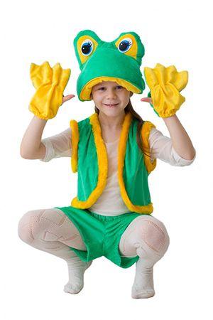 Карнавальный костюм ЛЯГУШКА-КВАКУШКА большая, 3-5 лет, Бока 1621-бокаКарнавальные костюмы 5-7 лет<br>Карнавальный костюм ЛЯГУШКА-КВАКУШКА порадует ребенка своей яркостью и веселым образом!<br>В набор костюма входит: забавная шапочка с глазками, жилетка, шортики и перчатки.<br> <br>Размер костюма: 30-34, рост 122-134 см<br>Материал: искусственный мех.<br> <br>Производитель: БОКА , Россия.<br>