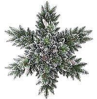 Хвойная композиция СНЕЖИНКА - БРИСТОЛЬ с шишками, льдинками, глиттером, 81 см, National Tree Co 31BRISSF/GB1-800-32SХвойный декор National Tree<br>Роскошный хвойный декор, выполненный в виде Снежинки, составлен из пушистых  заснеженных еловых веточек, декорированных  льдинками, шишками и глиттером. Хвойная Снежинка будет уместна в любом новогоднем интерьере.  Она достойно украсит стены, окна, витрины. Она придаст интерьеру ощущения праздника и утренней морозной свежести. <br> <br>Диаметр 81 см<br>Количество веточек - 120<br>Хвоя - ЛЕСКА + трехслойное PVC<br>Диаметр отростков - от 4  до 10 см<br>Декор -  еловые шишки, льдинки, глиттер, напыление искусственного снега. <br> <br>Производитель: National TREE COMPANY, Cranford, New Jersey, USA<br>Производство размещено в Гонконге<br>