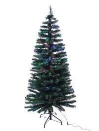 Светящаяся оптиковолоконная елка ЗАРНИЦА с разноцветными светодиодами, 122 см,National Tree Co 31SZEXMB48/SZEX7-147G-48Оптиковолоконные елки<br>Оптиковолоконная елЬ ЗАРНИЦА  выглядит очень нарядно и декоративно. Длинные иголки, с кончиками, покрытыми снегом, густая крона, классический силуэт - все это не может не привлечь внимания. Ну а в темноте елочка просто поражает своим великолепием, сверкая и переливаясь разноцветными оттенками каждой из своих иголочек. Цвет елочки постоянно меняется. Только что она была серебристо-белой, и вот уже она ярко алая, а теперь сине-зеленая, и, наконец, фиолетовая.  Отбрасывая причудливые кружевные радужные тени на стены и потолок, лптиковолоконная ель создает уют и новогоднее романтическое настроение.<br> <br>Высота елочки - 122 см. <br>Максимальный диаметр - 66 см<br>Количество веточек - 183<br>Хвоя - классическое PVC<br>Цвет хвои - зеленый<br>Длина иголок - 7 см<br>Кончики хвоинок - белыеПодсветка -  разноцветные LED кисточкаи. Свечение кисточек: красный, синий, зеленый. Напряжение - 220/12 В - трансформатор в комплекте.Имеется  контроллер, обеспечивающий 8 режимов светодинамики.Только для использования внутри помещений На фотографии может быть представлена модель другого размера.<br> <br>Производитель: National TREE COMPANY, Cranford, New Jersey, USA<br>Производство размещено в Гонконге<br>