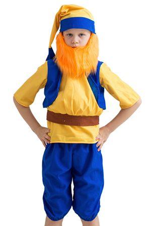 Карнавальный костюм ГНОМ В ЖИЛЕТЕ, 5-7 лет, Бока 2142-бока