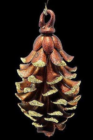 Ёлочное украшение ИЗЯЩНАЯ ШИШКА, акрил, медно-золотая, 12.7 см, Crystal deco 160693Украшения изящные золотые<br>Настоящие новогодние шишки тщательно наряжаются к празднику, чтобы стать изумительно изящным, волшебно мерцающим украшением!<br> <br>Размер - 12.7 см<br>Материал - акрил, блёстки<br>Цвет - медно-золотой<br> <br>Производитель Crystal deco, Нидерланды<br>Производство размещено в Китае<br>