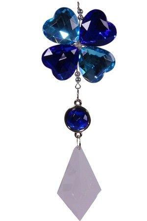 Украшение-подвеска ЦВЕТОК, акрил, сине-голубая, 12.7 см, Crystal deco 161599Украшения изящные разных цветов<br>Очаровательное сочетание незабудки и клевера-четырёхлистника на счастье, окрашенное восхитительно лёгкой и упоительной романтичностью.<br> <br>Длина - 12.7 см<br>Материал - акрил<br>Цвет - синий, голубой<br> <br>Производитель Crystal deco, Нидерланды<br>Производство размещено в Китае<br>