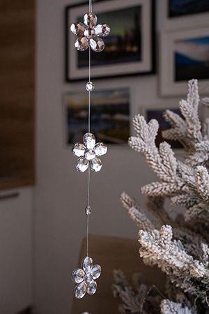 Гирлянда РОМАНТИЧНЫЕ ЦВЕТЫ, акрил, серебряная, 40 см, Crystal deco 162816Украшения изящные белые, прозрачные, серебряные<br>Сияние романтичной нежности в хрустальных гранях очаровательных лепестков окрасит настроение в лирические и мечтательные тона.<br> <br>Длина - 40 см<br>Цвет - серебряный<br>Материал - акрил<br> <br>Производитель Crystal deco, Нидерланды<br>Производство размещено в Китае<br>