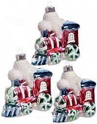 Набор ёлочных игрушек ПОЕЗД РАДОСТИ, 8х4.5х9 см (комплект - 3 шт.), Billet 309009Винтажные пластиковые игрушки<br>Новогодний поезд радости состоит из трёх весёлых паровозиков, везущих вам леденцовое настроение, заразительные улыбки, пёстрые мечты и другие, самые заманчивые праздничные эмоции в неограниченном количестве!<br> <br>Размер - 8х4.5х9 см<br>Материал - пластик<br>Набор - 3 паровозика<br> <br>Производитель BIILET, Бельгия<br>Производство размещено в Китае<br>