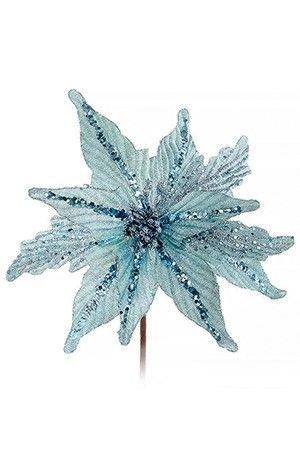 Пуансеттия НЕБЕСНАЯ, голубая с глиттером и пайетками, 38 см, Kurt S. Adler C0385Пуансеттии<br>Нежный оттенок безоблачного зимнего неба отразился в лепестках элегантной красавицы Пуансеттии, а сверкающие искорки на них напоминают о том, что перед нами Рождественская звёздочка из мира цветов, приходящая в дом в святые дни Рождества!<br> <br>Размер - 38 см<br>Материал - синтетика<br>Цвет - голубой<br> <br>Производитель - Kurt S. Adler, Голландия<br>Производство размещено в Китае<br>
