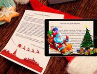 Набор новогоднее письмо и открытка от Деда Мороза с дополненной реальностью 228493Приятные новогодние мелочи<br>Уникальный новогодний набор для встречи 2018 года! <br>Вы получите поздравительную открытку и настоящее письмо от Деда Мороза на качественной плотной бумаге с праздничным декором, персонажей которого вы сможете оживить. В век информационных технологий новогоднее поздравление может прийти прямиком из виртуальной реальности. Установите на мобильное устройство бесплатное приложение Unibora New Year и подарите новогоднее чудо себе, своим детям, друзьям или коллегам. Скачав приложение,  наведите камеру смартфона на письмо Деда Мороза, и он сам придет к вам в гости! Вы увидите объемное изображение Деда Мороза, который поздравит вас с Новым Годом, услышите праздничную музыку. <br>Поздравительная открытка тоже скрывает в себе сюрприз – новогодний анимационный ролик, с персонажами которого можно сфотографироваться! Такой подарок с технологией дополненной реальности удивит ваших друзей и коллег. А дети обязательно порадуются персональному поздравлению Дедушки Мороза. <br> <br>Размер письма: 21х15 см <br>Материал: картон, бумага <br>Возраст: 3+ <br> <br>Страна производства: Россия<br>