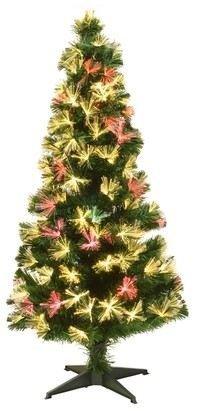 Оптоволоконная ёлка АЛЬФОРД, тёплые белые/разноцветные светодиоды, 90 см, KAEMINGK 679018 Morozko