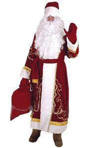 Костюм ДЕДА МОРОЗА, бархат, в ассортименте, Россия Н28-БК2Все для Деда Мороза<br>Костюм Деда Мороза пошит из бархатной ткани с орнаментом.<br>В комплект входят: кафтан, шапка, варежки, кушак, мешок.<br> <br>В ассортименте размеры: XL рост 170 см,  ХXL рост 182 см и ХХХL рост 188 см<br> <br>Производство: Россия<br>