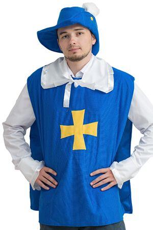 Карнавальный костюм МУШКЕТЕР, размер 50-54, ока 1424-бокаКарнавальные костюмы для  взрослых<br>Пока-покачивая перьями на шляпе...<br>Благородный и изящный МУШКЕТЕР понравится всем представительницам прекрасного пола на вечеринке. <br>В комплект костюма входит: шляпа с пером, кружевной воротник и манжеты, жилетка.<br> <br>Размер: 50-54<br>Рост: 170-175 см.<br>Материал: трикотаж.<br> <br>Производитель: БОКА, Россия.<br>