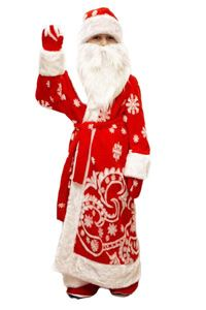 Карнавальный костюм ДЕД МОРОЗ, 5-7 лет, Бока 1689-бокаВсе для Деда Мороза<br>Превратиться в сказочного волшебника ДЕДА МОРОЗА можно с легкостью с помощью этого костюма. Поздравление своих друзей и родных с самым главным праздником года станет незабываемым!<br>В комплект костюма входит:шапка, борода, шуба, пояс, варежки.<br> <br>Размер костюма: 30-34<br>Рост: 122-134 см.<br>Материал: искуственный мех.<br> <br>Производитель: БОКА, Россия.<br>