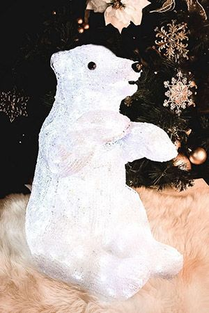 Светящийся МЕДВЕДЬ СИДЯЩИЙ, акрил, 200 холодных белых LED-огней, 53см+5м, уличный, KAEMINGK 492013Светящиеся фигуры из акрила<br>Чудесный Мишка специально для Вашего праздника освоил цирковой трюк - посмотрите, как умильно он уселся, выпрямив спину, и как ждет Вашего одобрения! Он просто замечательный, но полностью Вы будете им очарованы вечером, когда он весь засияет яркими огоньками.<br> <br>200 холодных белых LED огней<br>Размеры: 36х41х53 см<br>Материал - акрил<br>Подводка - 5 м<br>Цвет провода: прозрачный<br>Изделие полностью гидроизоливано IP 44, может быть использовано как внутри, так и вне помещений<br> <br>Производитель KAEMINGK, Голландия<br>Производство размещено в Китае<br>