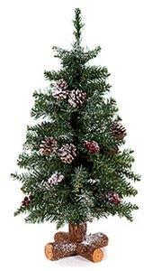 Елка настольная ШЕРВУД (с шишками, напыление искусственного снега), 45см, KAEMINGK 683510Настольные елки до 0,9 м Kaeming<br>Елка из сказочного шервудского леса, свидетельница приключений легендарного Робин Гуда. Пушистые хвойные лапы, алые ягоды, роскошные шишки, покрытые снегом - рядом с такой елкой вам обязательно захочется вспоминать и рассказывать чудесные истории, и праздничные вечера станут по-настоящему волшебными. Поставьте ее поближе, позовите друзей, разлейте по чашкам ароматный чай или пряный глинтвейн и погрузитесь в атмосферу сказочного Рождества!<br>Ель складная, подставка деревянная крестовина Не теряет форму при хранении, предназначена для многолетнего использования.<br> <br>Высота - 45см<br>Количество веток - 85<br>Нижний диаметр - 28 см<br>Хвоя - PVC<br>Цвет - зеленый<br>Декор - заснеженная с шишками и ягодами, подставка - деревянная крестовина<br>Диаметр отростков - 6 см<br> <br>Производитель KAEMINGK, Голландия<br>Производство размещено в Китае<br>