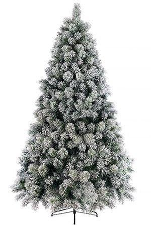 Искусственная ель заснеженная ВАНКУВЕР (хвоя - леска +PVC, напыление искусственного снега), 240см, KAEMINGK 689133Ели 1,2-2,4 м Kaeming<br>Эта ель составлена из невероятно пышных веток великолепной канадской сосны, густо усыпанных снежной крошкой. Этим роскошным деревом хочется бесконечно любоваться даже, когда оно не наряжено. А уж в праздничном убранстве оно будет смотреться просто фантастически. Только тут важно не переборшить: пышный декор самой ели предполагает лаконичность убранства. <br>Особенность этой ели - оригинальный декор - напыление искусственного снега (заснеженность) на хвою, сделанную из лески. Искусственный снег хорошо держится на хвое, не осыпается. Визуально ель просто не отличима от укутанной снегом лесной красавицы. Подобное оформление ели в последние годы стало очень популярным в европейских странах. Ель предназначена для многолетнего использования.<br> <br>Высота - 240см<br>Количество веток - 1259<br>Диаметр нижнего яруса - 152 см<br>Хвоя: леска + PVC<br>Диаметр отростков - 9 и 13 см<br>Декор: напыление искусственного снега.<br>Ель разбирается до ветвей, ветви крепятся на крючках, ветви каждого яруса промаркированы. <br>Подставка металлическая<br> <br>Производитель KAEMINGK, Голландия<br>Производство размещено в Китае<br>