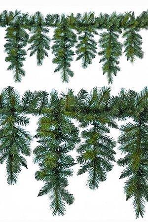 Гирлянда ХВОЙНЫЙ ЛАМБРЕКЕН, (семь капель), 270 см, KAEMINGK 688880Хвойный декор Kaeming<br>Хвойная гирлянда - самая важная деталь новогоднего оформления.  Даже в натуральном виде она создает праздничную атмосферу, а уж наряженная… Особенность этой гирлянды - вертикальные веточки, которые можно очень интересно и необычно украсить:  натуральными шишками или  гроздями еловых шишек, лампочками,  лентами или снединками. Или роскошными зимними ягодами, да, чем угодно - фантазируйте, создавайте свой праздник, воплощайте свои идеи!<br> <br>Длина гирлянды - 270см<br>Количество веток - 340<br>Длина вертикальных (свисающих) веток - 50 и 30 см<br>Количество капель - 7<br>Хвоя: смешанная - PVC и Леска<br>Диаметр отростков - 4,5 и 7 см<br> <br>Производитель KAEMINGK, Голландия<br>Производство размещено в Китае<br>