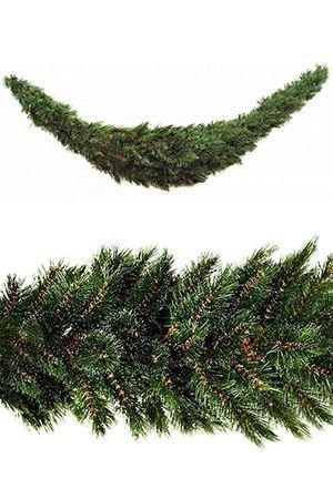 Сваг ЛЕСНАЯ КРАСАВИЦА (хвоя-леска), 180 см, Triumph Tree 73684Хвойный декор Triumph<br>Посеребренная инеем хвоя свага ЛЕСНАЯ КРАСАВИЦА празднична и нарядна!<br>Хвойный сваг  ЛЕСНАЯ КРАСАВИЦА выглядит необыкновенно нарядно.  Благодаря специальной технологии обрезки, кончики темно-зеленой хвои из лески кажутся припорошеными едва заметным серебристым инеем, который придает облику новогодней гирлянды  легкость и зимнее очарование. Благодаря посеребренным кончикам веток гирлянда как будто высвечивается изнутри. <br>Этот роскошный хвойный еловый сваг впишется в любой интерьер, придав ему праздничный блеск и очарование!  <br>.  <br>Длина гирлянды - 180 см<br>Диаметр гирлянды - 36 см<br>Длина иглы -  3 см<br>Диаметр отростков - 6 смХвоя - леска с визуально посеребренными кончиками<br> <br>Сваг производится фирмой TRIUMPH TREE, Голландия, изготавливается в Тайланде Производители дают гарантию 10 лет на все изделия их хвои TRIUMPH.<br>