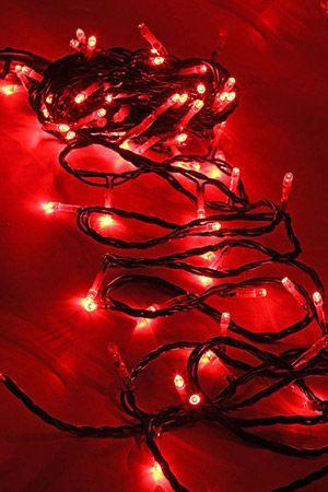Электрогирлянда ТВИНКЛ ЛАЙТ BLINKING (мерцающая) 100 красных LED ламп, 10 м, коннектор, черный провод PVC, уличная, Beauty Led PST100BL-11-2RЭлектрогирлянды РАЗНЫЕ для высотных елей<br>ТВИНКЛ ЛАЙТ МЕРЦАЮЩИЙ (TWINKLE LIGHT BLINKING) с LED лампочками имеют необыкновенно яркое и чистое свечение. Каждый пятый светодиод мерцает, гирлянда выглядит потрясающе нарядно и красиво. Гирлянда характеризуется прочностью, надежностью, малым потреблением энергии, огромным ресурсом работоспособности. Гирлянда из 100 разноцветных LED-ламп защищена от влаги, поэтому ее можно использовать не только в помещении, но и на улице. Гирлянда оснащена коннектором, позволяющим соединять до 10 гирлянд в одну нить.<br> <br>Характеристики:<br>Количество LED-ламп: 100<br>Каждый пятый светодиод мерцает<br>Мощность: 9,2 Вт;<br>Цвет: красный<br>Длина провода: 10 м;<br>Цвет провода: черный;<br>Гирлянда имеет коннектор, позволяющий соединять до 10 электрогирлянд;<br>Влагозащищена, пригодна для использования и в помещении, и на улице.<br> <br>Производитель: Beauty Led, Россия<br>Производство размещено в Китае<br>
