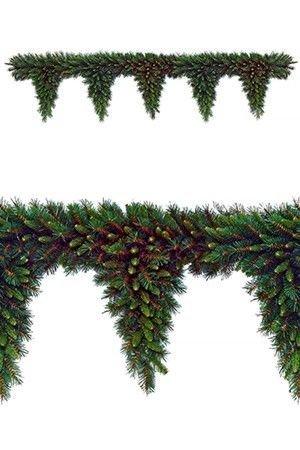 Гирлянда ХВОЙНЫЙ ЛАМБРЕКЕН ТИФФАНИ (пять капель), 183х30 см, National Tree Co 31TF6T/TF-6TХвойные Сваги и Ламбрекены<br>Хвойные гирлянды - ламбрекены - в последний год приобрели необыкновенную популярность в Европе, благодаря своей декративности, придающей новогоднему дизайну праздничность и торжественность.<br>Гирлянды-ламбрекены - настоящий подарок дизайнерам. Они удобны при декоративном оформлении арочных перекрытий, балюстрад, балконов, проемов окон и дверей. <br>Особенность гирлянд ХВОЙНЫЙ ЛАМБРЕКЕН - вертикальные капли, сформированные из пушистых веточек разной длины и диаметра. Предлагаемая модель имеет хвойные отростки разных оттенков зеленого цвета с просвечивающей сквозь хвою древесиной,  придающей гирлянде естественность и нарядность. <br> <br>Длина гирлянды - 183см<br>Высота вертикальных капель - 30 см<br>Количество отростков - 445<br>Хвоя: трехслойная, PVC<br>Диаметр отростков - от 2 до 6 см<br>Декор - хвоя - разные оттенки зеленого цвета, просвечивающая древесина.<br> <br>Производитель: National TREE COMPANY, Cranford, New Jersey, USA<br>Производство размещено в Гонконге<br>
