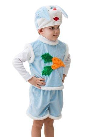 Карнавальный костюм КРОЛИК , 3-5 лет, Бока 1051-бокаДетские карнавальные костюмы 0,5-5 лет<br>Карнавальный костюм КРОЛИК подарит ребенку незабываемые моменты радости, т.к. на любом празднике он будет притягивать взгляды окружающих красотой и яркостью костюма.<br>В набор костюма входит: шапочка в виде головы кролика, жилетка с изображением морковки, шортики.<br> <br>Размер костюма: 24-28<br>Рост: 104-116 см.<br>Материал: искусственный мех.<br> <br>Производитель: БОКА, Россия.<br>