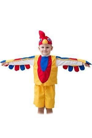 Карнавальный костюм ПЕТУШОК, 3-5 лет, Бока 1106-бокаДетские карнавальные костюмы 0,5-5 лет<br>Карнавальный костюм ПЕТУШОК подойдет ребенку, который хочет быть самым ярким и заметным персонажем праздника.<br>В набор костюма входит: шапочка с клювом и ярким гребешком, яркая кофточка с рукавами-крылышками, шортики с хвостиком.<br> <br>Размер костюма: 24-28<br>Рост: 104-116 см.<br>Матреиал: трикотаж.<br> <br>Производитель: БОКА, Россия.<br>
