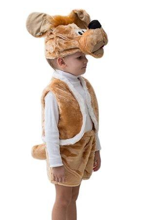 Карнавальный костюм ПЕС АТОС, 3-5 лет, Бока 995-бокаДетские карнавальные костюмы 0,5-5 лет<br>Костюм ПЕС АТОС красивый и удобный для быстрого перевоплащения в любимого персонажа!.<br>В комплект костюма входит:  шапка, жилет, шорты с хвостом.<br> <br>Размер костюма: 24-28<br>Рост: 104-116 см.<br>Материал: искуственный мех.<br> <br>Производитель: БОКА, Россия<br>
