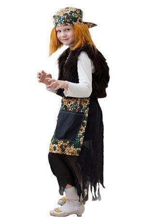 Карнавальный костюм БАБА-ЯГА, 5-7 лет, Бока 1126-бокаКарнавальные костюмы 5-7 лет<br>В карнавальном костюме БАБА-ЯГА ребенок станет очаровательной лесной колдуньей.<br> <br>Размер костюма: 30-34<br>Рост: 122-134 см.<br>Материал: трикотаж.<br>Фартук и косынка могут по цвету отличаться от изображенных на фотографии.<br> <br>Производитель: БОКА, Россия.<br>