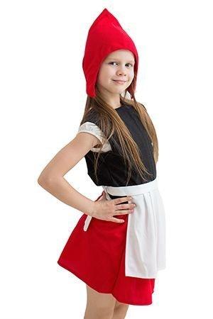 Карнавальный костюм КРАСНАЯ ШАПОЧКА, 5-7 лет, Бока 971-бокаКарнавальные костюмы 5-7 лет<br>Карнавальный костюм КРАСНАЯ ШАПОЧКА превратит ребенка в главную героиню любимой сказки про отважную и умную девочку.<br>В набор костюма входит: шапочка, жилетка, юбочка и фартук.<br> <br>Размер костюма: 30-34<br>Рост: 122-134 см.<br>Материал: трикотаж.<br> <br>Производитель: БОКА, Россия.<br>