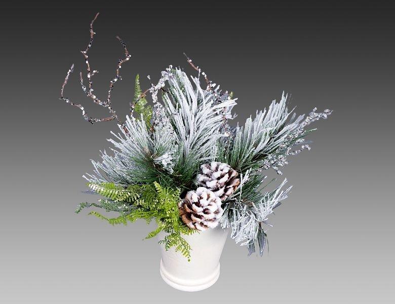 Букет из елочных лапок, раскраска букет цветов