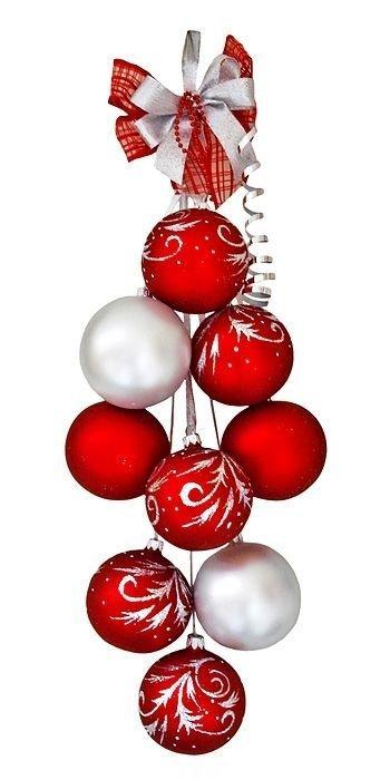 Как сделать гирлянду из новогодних шаров своими руками - Zerli.ru